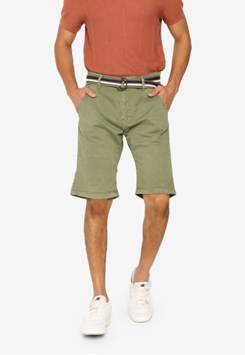 Indicode Jeans green Royce Shorts with Belt F0CF9AA26B32C4GS_1