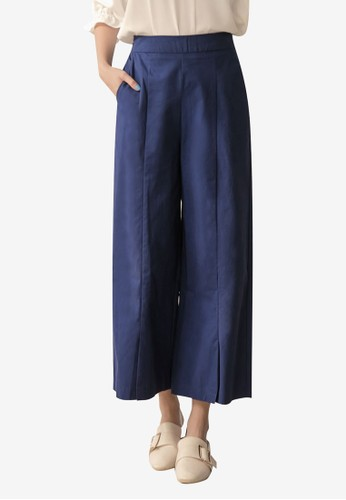 Tokichoi blue Cut Out Culottes A08E2AABD5B3B1GS_1