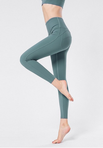 B-Code green ZYG3066-Lady Quick Drying Running Fitness Yoga Sports Leggings -Green 66E8EAA9FA809AGS_1