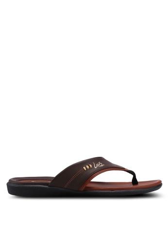 Louis Cuppers brown Faux Leather Sandals 9D1B3SH89D8035GS_1