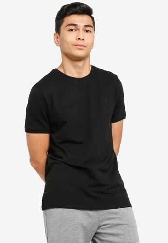 JBS of Denmark black Basic Piqué T-Shirt FE670AAC9B0D7CGS_1