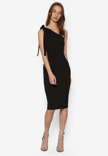 單肩繫帶及膝貼身連身esprit au裙, 服飾, 洋裝