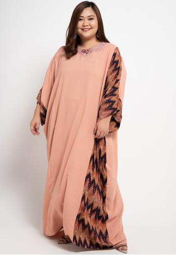 LUIRE by Raden Sirait orange Plus Size MS Kaftan Cetar CLA 30F25AAE703F92GS_1