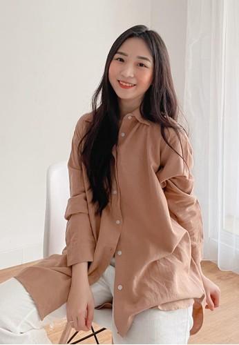 Sherello brown Freya Shirt in Brown 73412AA65CF0AEGS_1
