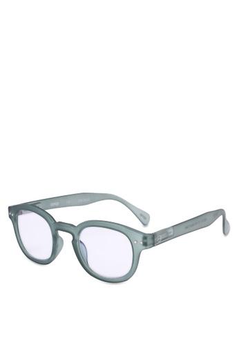 Izipizi 綠色 抗藍光圓框太陽眼鏡 CD465GL85259A3GS_1