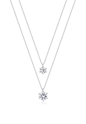 ELLI GERMANY silver Elli Germany Necklace Layer Solitaire Swarovski® Crystals in 925 Sterling Silver 884D2ACCCAC5D2GS_1
