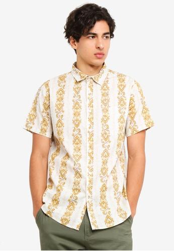 Cotton On 多色 印花復古短袖口袋襯衫 7A366AABDEF57CGS_1