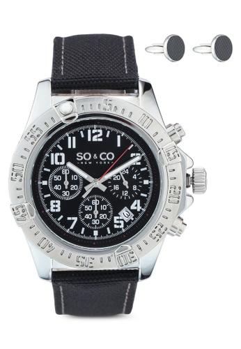 SO&CO silver Hudson 5016.1 Watch Set 608A6AC2AF30A8GS_1