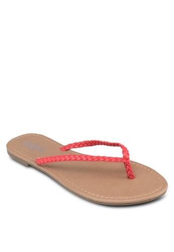 編織夾腳拖鞋, zalora 順豐女鞋, 鞋