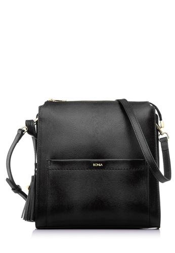 BONIA black Black Delilah Crossbody Bag M BO777AC95ULCMY_1