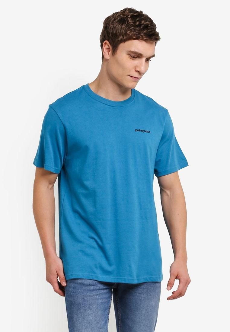 Patagonia Filter Fitz T Roy Cotton Trout Blue Shirt 4qUwF4