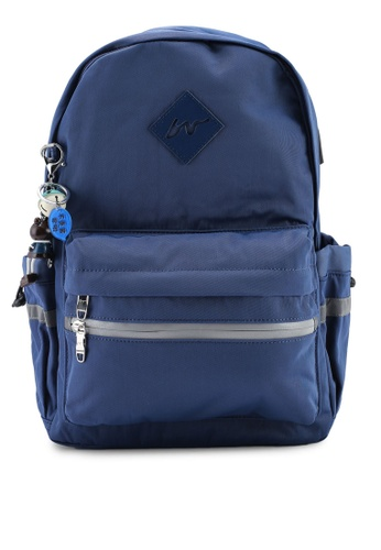 Bagstationz navy Fashion Laptop Backpack 3FC93ACD1A3141GS_1