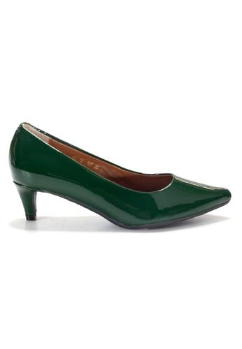 Shu Talk 綠色 LeccaLecca 漆皮尖頭高跟鞋 2C206SHCFA7E45GS_1