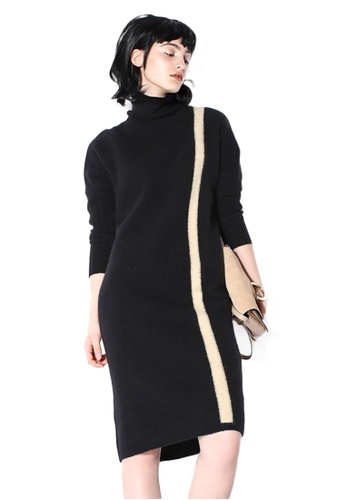 Sunnydaysweety black High - Necked Wool Knit One Piece Dress CA112395BK 0E69FAA0B5B992GS_1