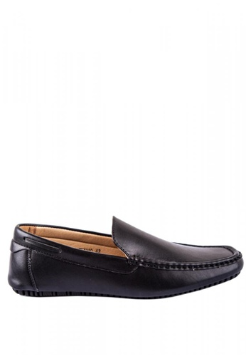 Otto black Basic Slip-On Loafers DF39DSH66510D4GS_1
