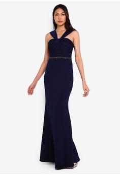 54b81313887fe0 Lipsy navy Navy Twist Bodice Maxi Dress 70AF8AAC6BDDE2GS_1
