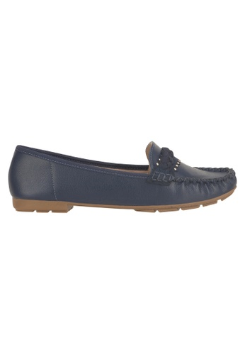 Beira Rio blue Solid Color Front Top Studded Moccassin BE995SH70ESVHK_1