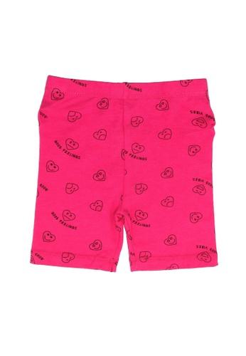 FOX Kids & Baby pink Baby Girl Hearts Shorts 1284EKA14339C3GS_1