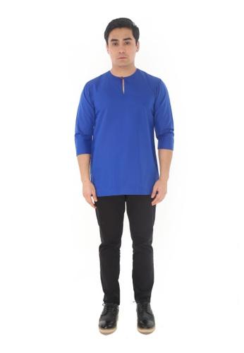 Amar Amran blue Kurta Johor 95E80AAAACD26DGS_1
