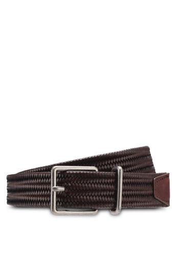 MANGO Man brown Braided Leather Belt 9DF3CAC9AB0609GS_1
