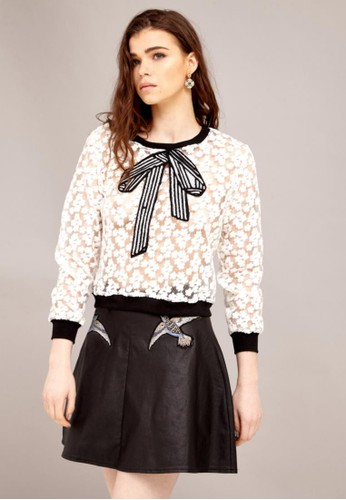 蕾絲鏤空上衣,esprit outlet 台灣 服飾, 上衣