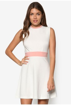 Collection High Neck Fit& Flare Dress