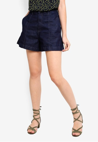 Cotton On blue High Rise A Line Shorts 05164AA8A3B591GS_1
