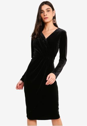 OVS black Velvet Dress EF69AAA75B2175GS_1