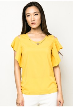 Butterfly-Sleeve Blouse