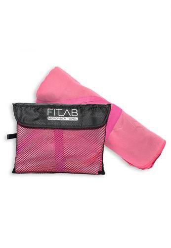 Fitlab pink Microfiber Sports Towel 64C2BHL1F76F60GS_1