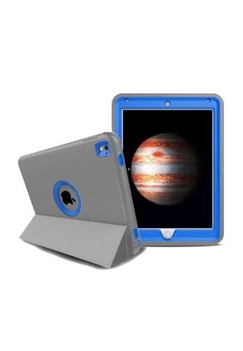 """MobileHub grey and blue iPad Pro (9.7"""") Extreme Hybrid Shockproof Case 34846AC4C3C961GS_1"""