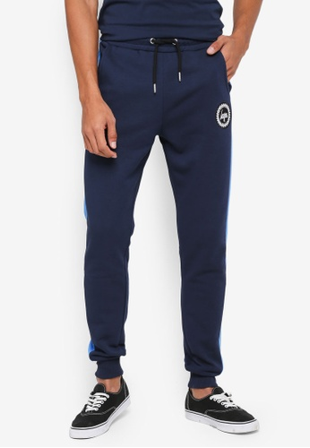 Just Hype blue Panel Crest Jogger Pants C8A37AAACC7654GS_1