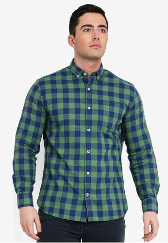 MANGO Man green Regular-Fit Check Cotton Shirt DE57EAAB26A3F1GS_1