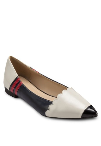 鉛筆造型尖頭平底鞋, 女鞋, zalora鞋鞋