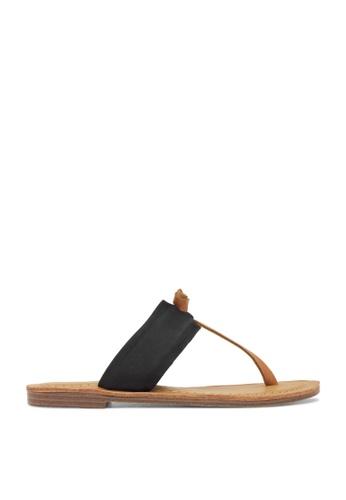ROC Boots Australia black Raj Black/Tan Sandal RO517SH90QPHHK_1