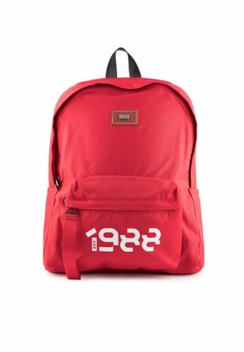Bibo red Air Nylon Backpack 3F401ACFB264F8GS_1