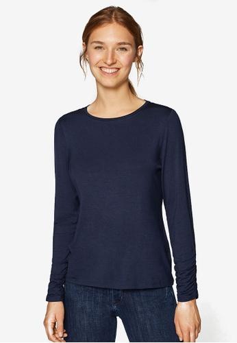 ESPRIT navy Long Sleeve T-Shirt C4FF5AAD0D74D7GS_1