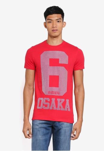 Superdry red Osaka 6 Micro Dot Tee 67894AA2F6BB72GS_1