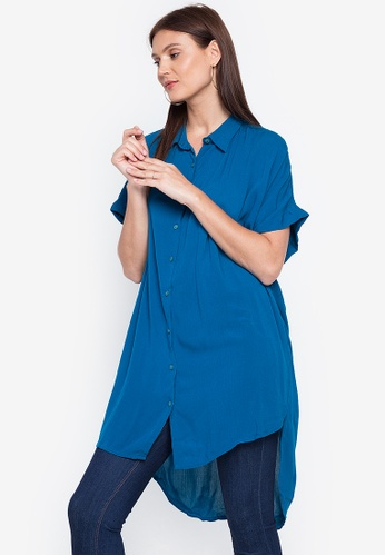 Chictees blue Irene Polo Top FEF90AADA18904GS_1