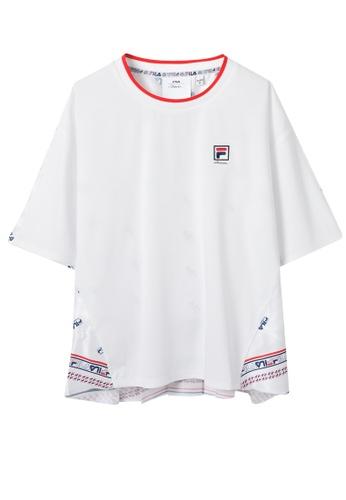 7f69732b Fila white FILA X 3.1 Phillip Lim Logo Print T-shirt ACE38AAED05826GS_1