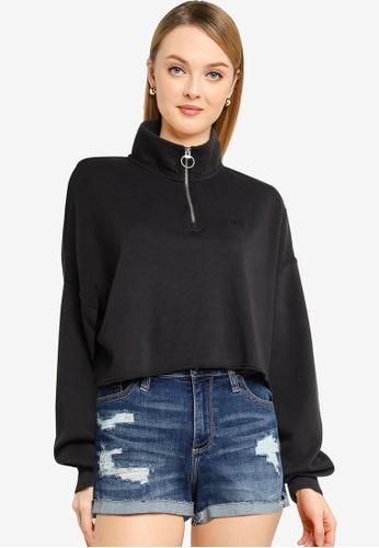Hollister black Icon Zip Sweater 15D97AAEEF1315GS_1