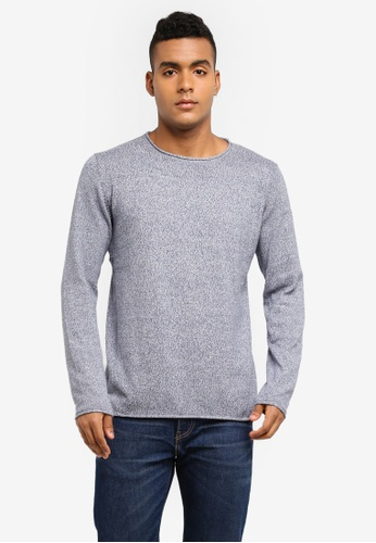 Indicode Jeans blue Ashley Knitted Longline Back Panel Sweater E04E3AAD07C3C8GS_1