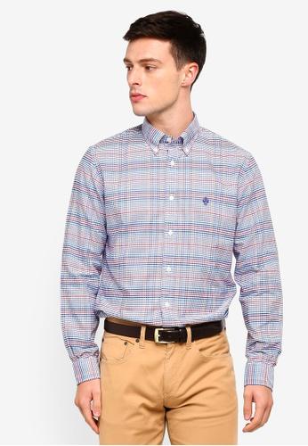 Brooks Brothers 白色 長袖格紋襯衫 465C3AA22A3147GS_1
