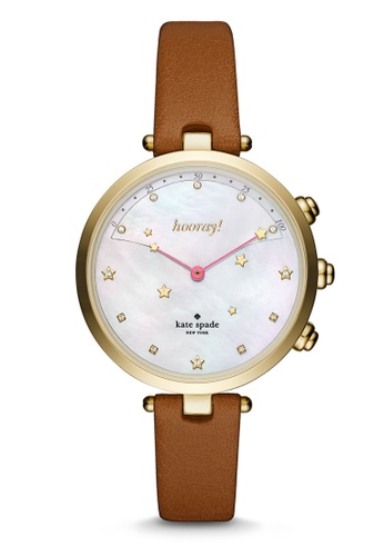 Kate Spade brown KS Holland Slim Hybrid Smart Watch KST23203 KA433AC0S038MY_1