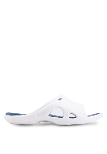 Hush Puppies white Hush Puppies Men's Cayman Sandal - White 849C0SHD3BE5DEGS_1