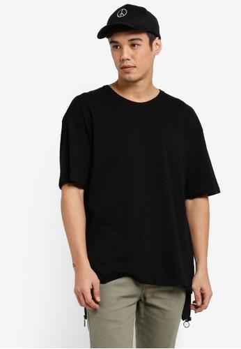 Flesh Imp black Ryan Oversized Box Cut T-Shirt FL064AA77WZEMY_1