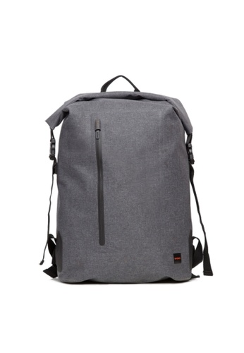 """knomo grey Cromwell 15"""" Roll Top Backpack (Grey) 5821AAC1CA7C34GS_1"""