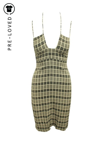 Reformation brown Pre-Loved reformation Brown Checked Dress with Front Tie D797FAA8773D76GS_1