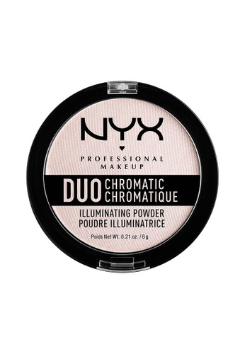 NYX Professional Makeup gold NYX Professional Makeup Duo Chromatic Illuminating Powder - SNOW ROSE 83372BE549A9EDGS_1