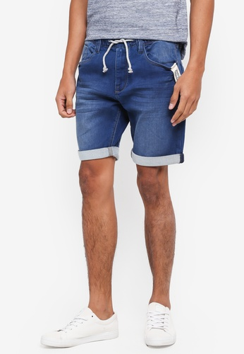 Indicode Jeans navy Kadin Drawstring Denim Shorts 11DE6AA1047480GS_1